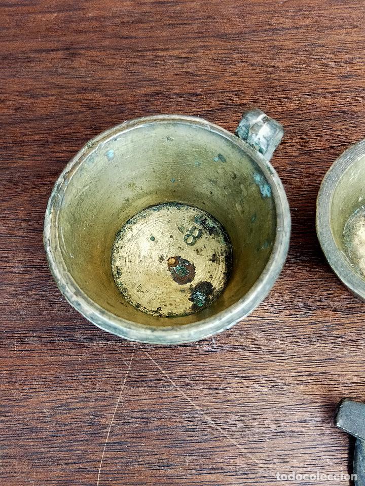 Antigüedades: PONDERAL DE VASO ANIDADO - VER MARCAJES - Foto 8 - 255566260