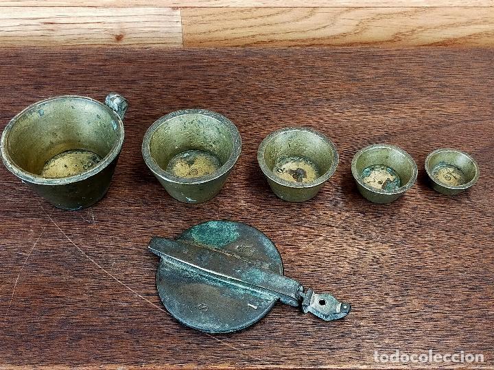 PONDERAL DE VASO ANIDADO - VER MARCAJES (Antigüedades - Técnicas - Medidas de Peso Antiguas - Otras)