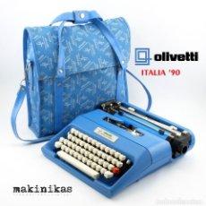 Antigüedades: MÁQUINA DE ESCRIBIR OLIVETTI ITALIA '90 TYPEWRITER + BOLSA + TINTA (EXCELENTE ESTADO). Lote 255590460