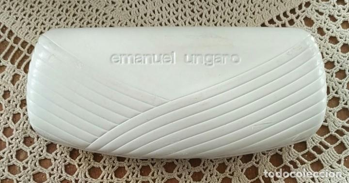 FUNDA / CAJA ESTUCHE PARA GAFAS EMANUEL UNGARO - BLANCA - 16CM X 7CM X 4CM (Antigüedades - Técnicas - Instrumentos Ópticos - Gafas Antiguas)