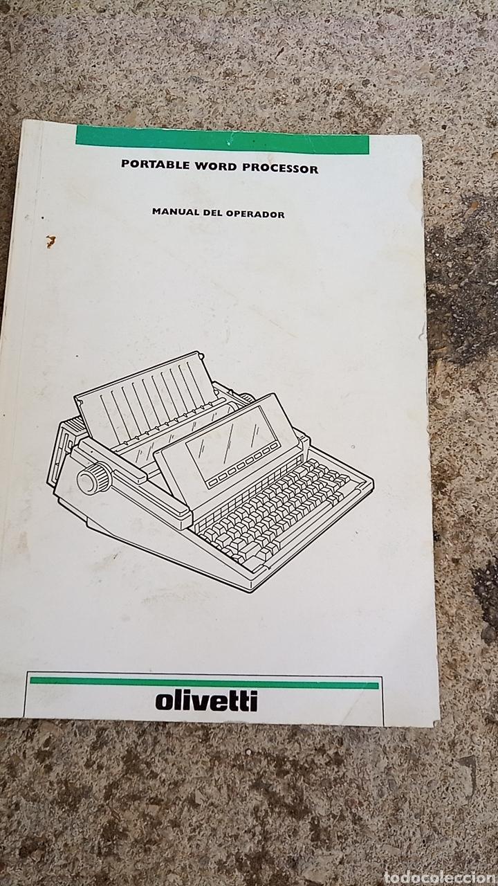 Antigüedades: Maquina de escribir OLIVETTI LETTERA 25 CON BOLSA DE TRANSPORTE Y LIBRO DE INSTRUCCIONES - Foto 3 - 255630720
