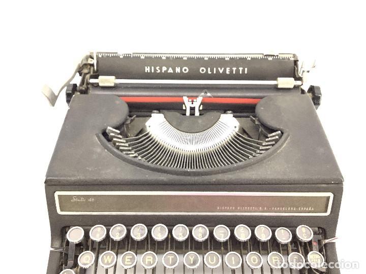 Antigüedades: Máquina de escribir Hispano Olivetti . Studio 46 - Foto 5 - 255674215