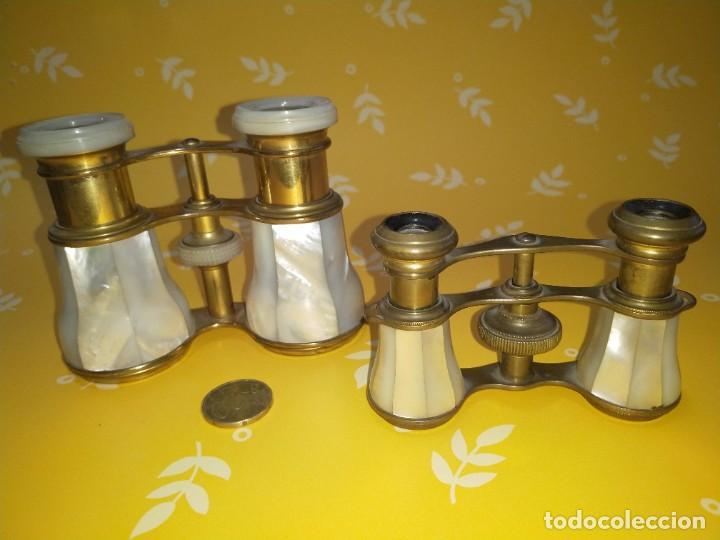 Antigüedades: Colección de 11 prismáticos antiguos - Foto 4 - 255921385