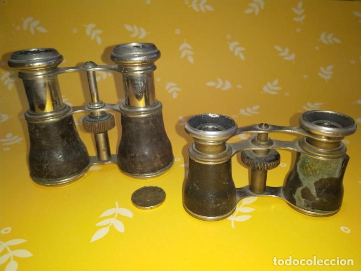 Antigüedades: Colección de 11 prismáticos antiguos - Foto 5 - 255921385