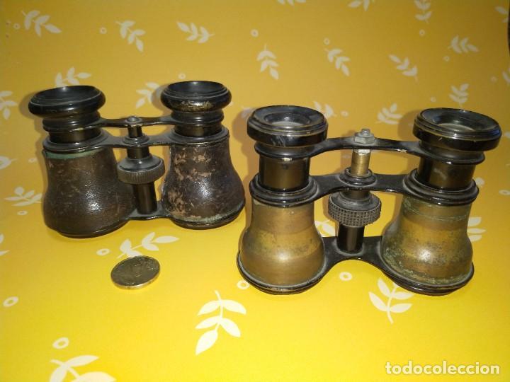 Antigüedades: Colección de 11 prismáticos antiguos - Foto 6 - 255921385