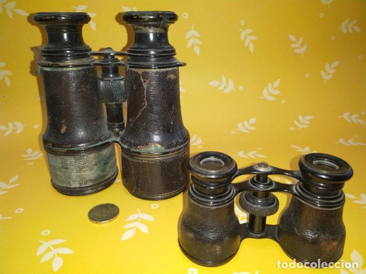 Antigüedades: Colección de 11 prismáticos antiguos - Foto 7 - 255921385