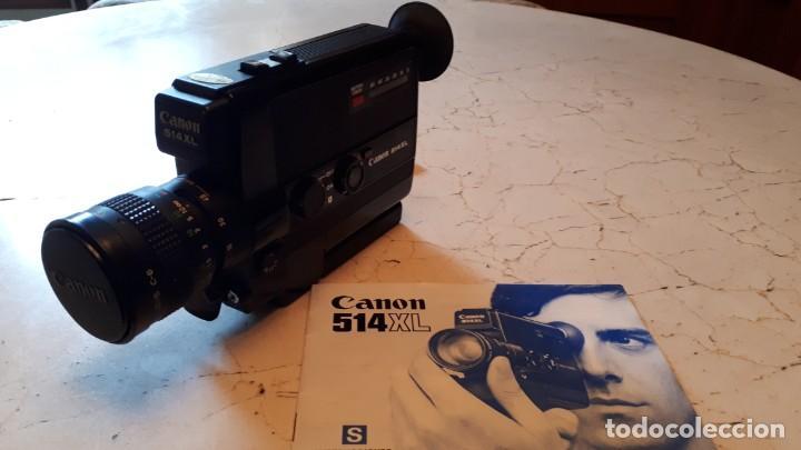 Antigüedades: CÁMARA DE SUPER 8 MM O TOMAVISTAS CANON 514 XL - 1976. - Foto 2 - 255932355