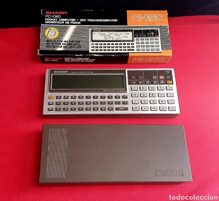 SHARP POCKET COMPUTER PC-1360 . TAL CUAL COMO SE VE EN FOTOS (Antigüedades - Técnicas - Aparatos de Cálculo - Calculadoras Antiguas)