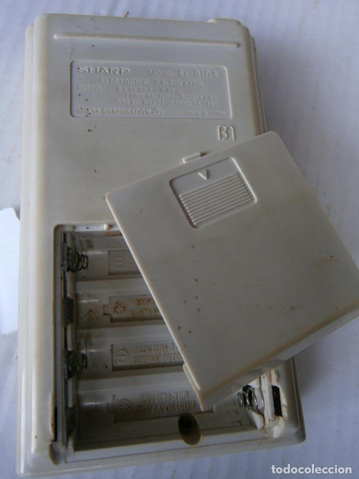 Antigüedades: ANTIGUA CALCULADORA SHARP MODEL EL-8104 - Foto 2 - 255962260