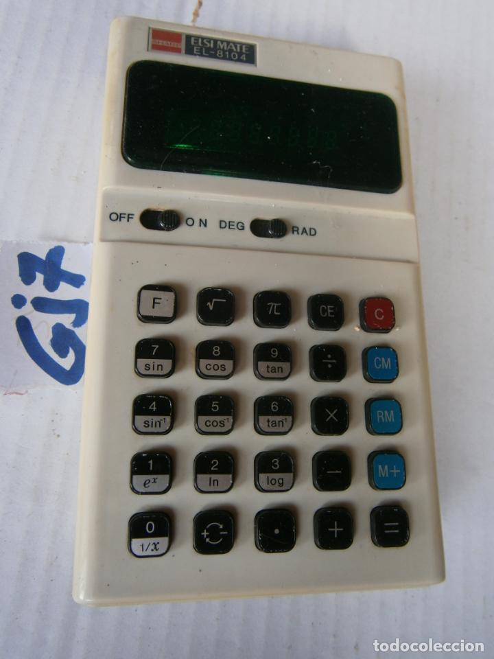 ANTIGUA CALCULADORA SHARP MODEL EL-8104 (Antigüedades - Técnicas - Aparatos de Cálculo - Calculadoras Antiguas)