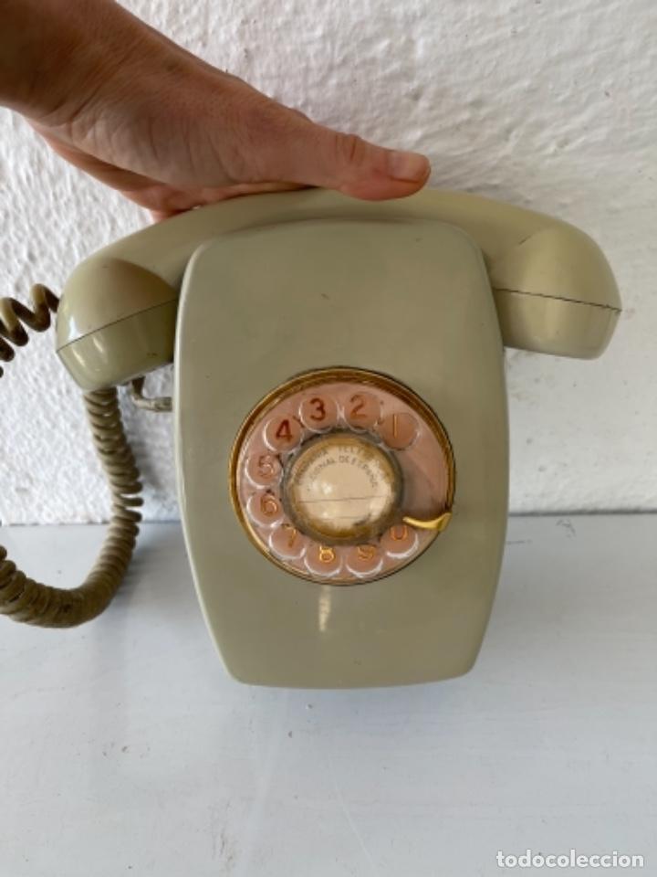 Teléfonos: Antiguo teléfono heraldo de pared vintage color beige compañía nacional de telefonía - Foto 3 - 255976895