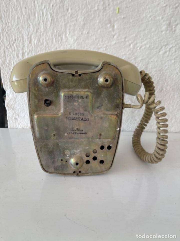 Teléfonos: Antiguo teléfono heraldo de pared vintage color beige compañía nacional de telefonía - Foto 9 - 255976895
