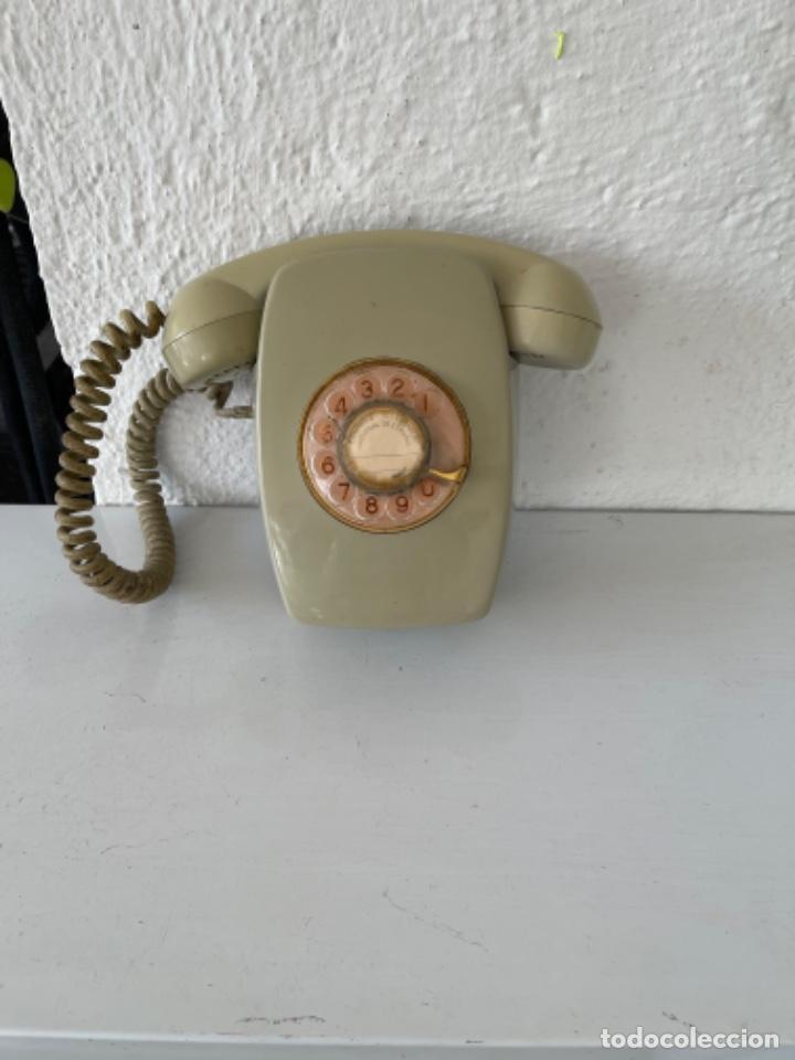 Teléfonos: Antiguo teléfono heraldo de pared vintage color beige compañía nacional de telefonía - Foto 10 - 255976895