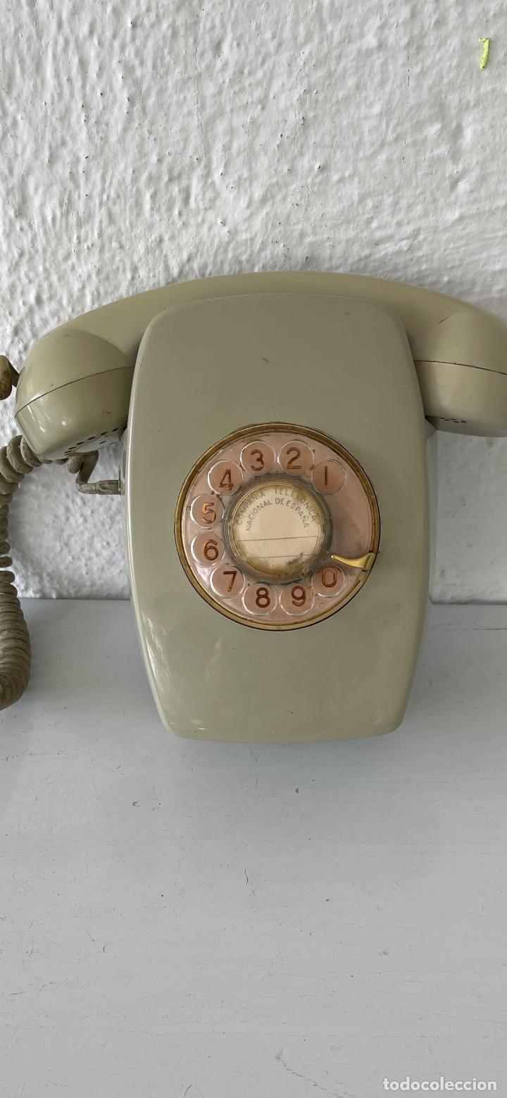 ANTIGUO TELÉFONO HERALDO DE PARED VINTAGE COLOR BEIGE COMPAÑÍA NACIONAL DE TELEFONÍA (Antigüedades - Técnicas - Teléfonos Antiguos)