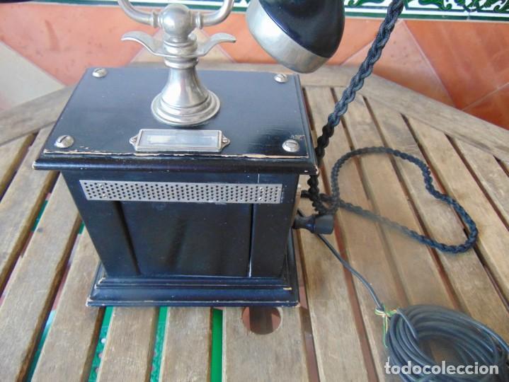 Teléfonos: ANTIGUO TELEFONO MARCADO POST BP DFE AP 300 , CON MANIVELA Y TECLADO OCULTO - Foto 8 - 256016720