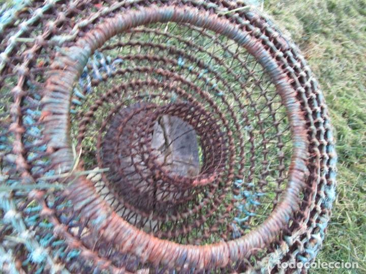 Antigüedades: ARTES PESCA PORTUGAL - MARISCO, ANTIGUA NASA CIRCULAR 54CM X 22CM ALTO, 3KG + INFO - Foto 2 - 220779638