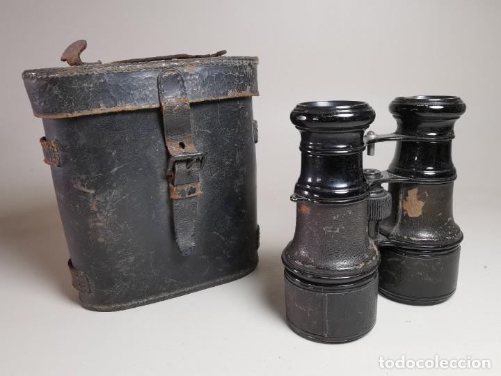 Antigüedades: ANTIGUOS BINOCULARES PRISMATICOS BRONCE SIN MARCAJE CIRCA 1900-----REF-MO - Foto 2 - 256060920
