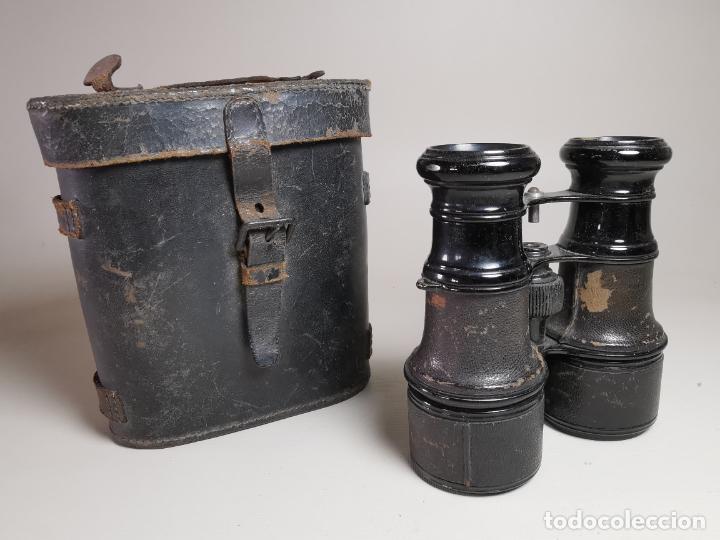 ANTIGUOS BINOCULARES PRISMATICOS BRONCE SIN MARCAJE CIRCA 1900-----REF-MO (Antigüedades - Técnicas - Instrumentos Ópticos - Prismáticos Antiguos)