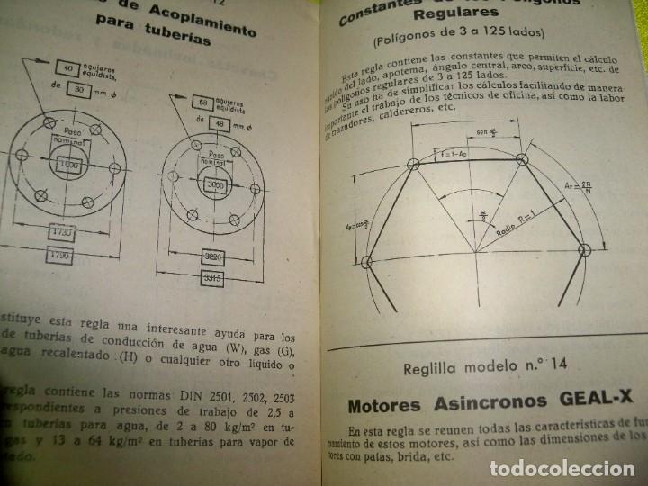 Antigüedades: Antiguo catálogo de reglas técnicas Gagma, para el cálculo rápido y para la publicidad industrial - Foto 4 - 256145175