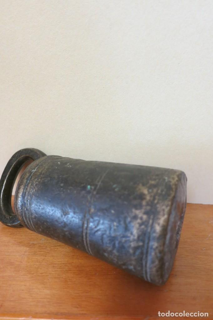 Antigüedades: Pesa de 2 libras o arrateis Portugal 1860 - Foto 3 - 256368210