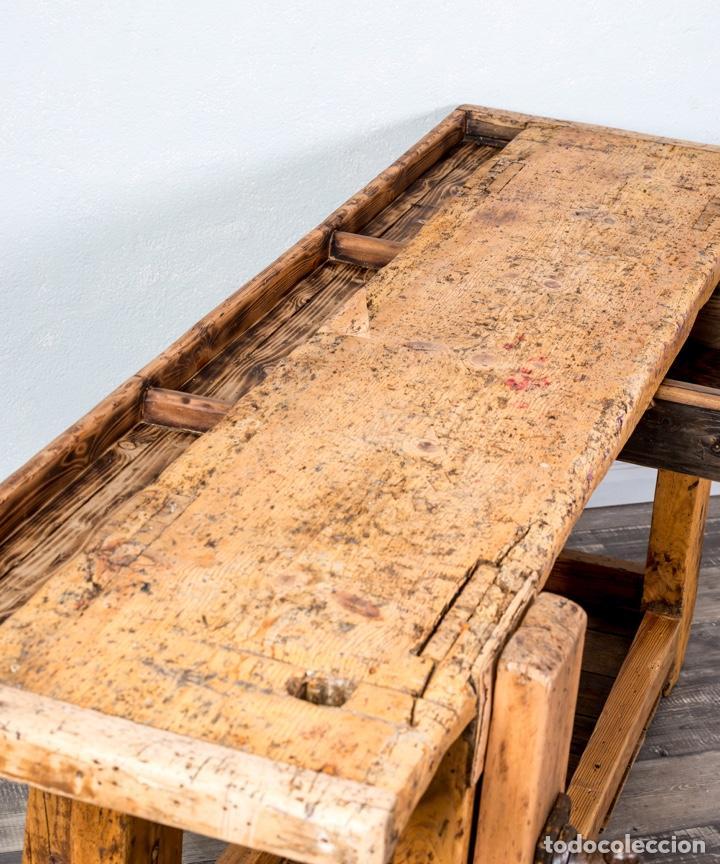 Antigüedades: Banco Antiguo De Carpintero 1927 - Foto 3 - 257229400