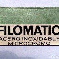 Antigüedades: HOJA DE AFEITAR ANTIGUA,FILOMATIC ACERO INOXIDABLE,MICROCROMO.. Lote 257304165