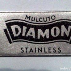 Antigüedades: HOJA DE AFEITAR ANTIGUA,MULCUTO DIAMON,STAINLESS,HOLLOW GROUND.. Lote 257304790