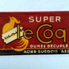 Antigüedades: HOJA DE AFEITAR ANTIGUA,SUPER LE COQ,DURÉE DECOUPLÉE.. Lote 257305460