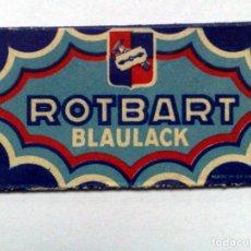 Antigüedades: HOJA DE AFEITAR ANTIGUA,ROTBART BLAULACK.. Lote 257306585
