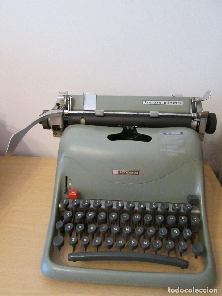 MAQUINA DE ESCRIBIR HISPANO OLIVETTI - LEXICON 80 (Antigüedades - Técnicas - Máquinas de Escribir Antiguas - Olivetti)