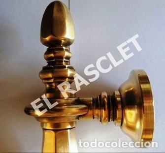 Antigüedades: ANTIGÜO TIRADOR MODERNISTA EN BRONCE PARA PUERTA - DE LA EPOCA SIGLO IXX - - Foto 4 - 257310360