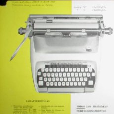 Antigüedades: HOJA PUBLICITARIA DE LA MÁQUINA DE ESCRIBIR ATLÁNTIDA STYLE. ORIGINAL DE 1961.. Lote 257338255