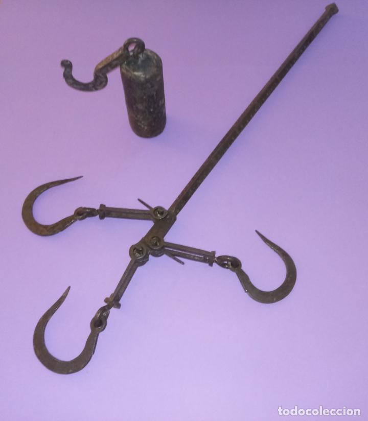 ANTIGUA ROMANA DE HIERRO (Antigüedades - Técnicas - Medidas de Peso - Romanas Antiguas)