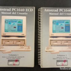 Antiguidades: MANUAL AMSTRAD PC1640 (2 TOMOS) 1987, 600 PÁGINAS. Lote 257513510