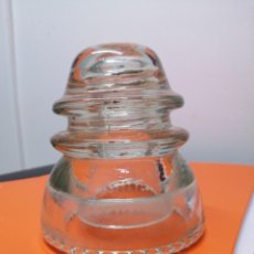 Antigüedades: ANTIGUA JICARA AISLANTE PÓSTER LUZ ELÉCTRICO CABLE ELECTRICIDAD AISLADOR TRANSPARENTE. Lote 257553000