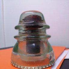 Antigüedades: ANTIGUA JICARA AISLANTE PÓSTER RENFE TREN LUZ ELÉCTRICO CABLE ELECTRICIDAD AISLADOR TRANSPARENTE. Lote 257553125