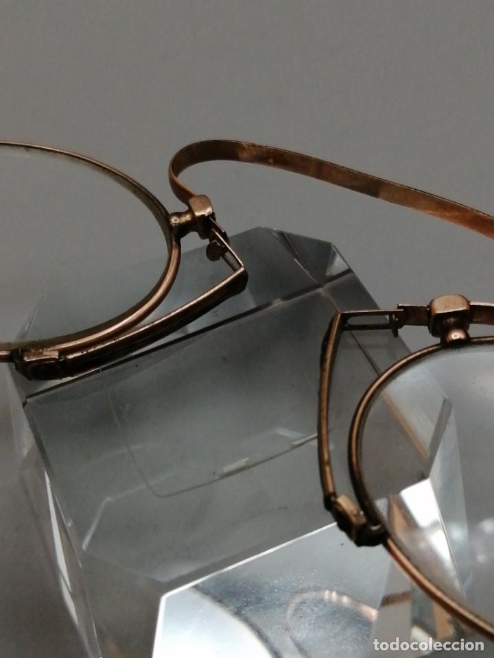 Antigüedades: Gafas Binoculares antiguos metal enchapado en oro - Foto 4 - 257644205