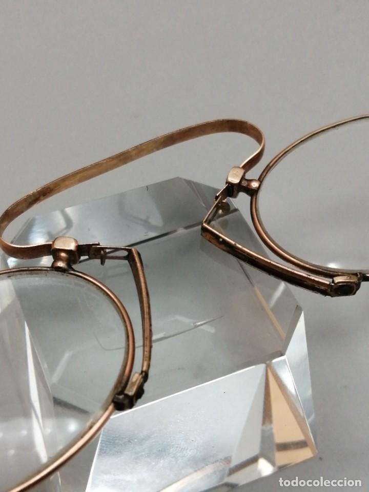 Antigüedades: Gafas Binoculares antiguos metal enchapado en oro - Foto 5 - 257644205