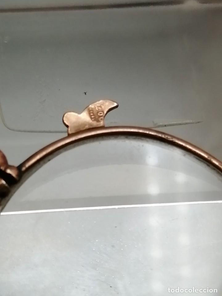 Antigüedades: Gafas Binoculares antiguos metal enchapado en oro - Foto 6 - 257644205