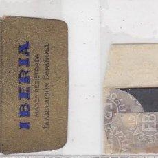 Antigüedades: FUNDA Y HOJA DE CUCHILLA DE AFEITAR ANTIGUA - IBERIA DE LUXE. Lote 257652815