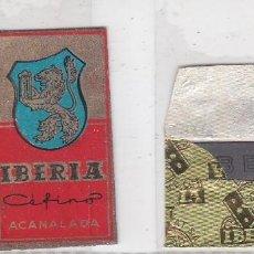 Antigüedades: FUNDA Y HOJA DE CUCHILLA DE AFEITAR ANTIGUA - IBERIA CEFINO ACANALADA. Lote 257653435