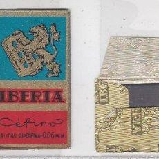 Antigüedades: FUNDA Y HOJA DE CUCHILLA DE AFEITAR ANTIGUA - IBERIA CEFINO SIN PRECIO. Lote 257653600