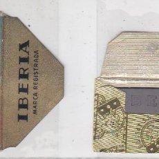 Antigüedades: FUNDA Y HOJA DE CUCHILLA DE AFEITAR ANTIGUA - IBERIA CEFINO ACANALADA. Lote 257654030