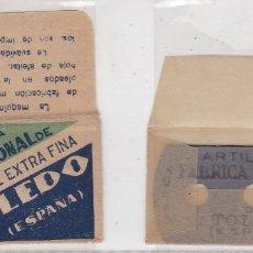 Antigüedades: FUNDA Y HOJA DE CUCHILLA DE AFEITAR ANTIGUA - TOLEDO. Lote 257654680
