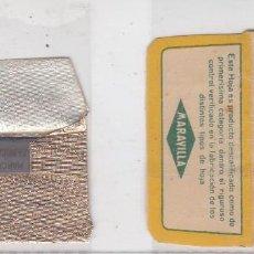 Antigüedades: FUNDA Y HOJA DE CUCHILLA DE AFEITAR ANTIGUA - LA BARAJA - 10 DE OROS. Lote 257655385