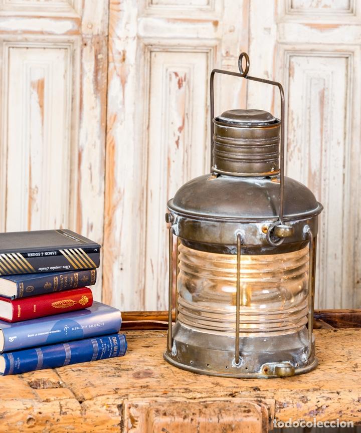 Antigüedades: Antiguo Farol De Barco - Foto 2 - 257655630