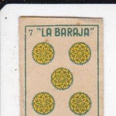 Antigüedades: FUNDA SIN HOJA DE CUCHILLA DE AFEITAR ANTIGUA - LA BARAJA - 7 DE OROS. Lote 257656295
