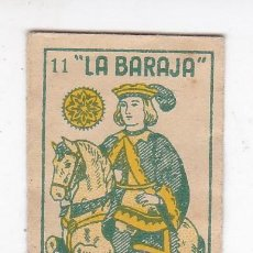 Antigüedades: FUNDA SIN HOJA DE CUCHILLA DE AFEITAR ANTIGUA - LA BARAJA - 11 DE OROS. Lote 257656425