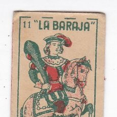 Antigüedades: FUNDA SIN HOJA DE CUCHILLA DE AFEITAR ANTIGUA - LA BARAJA - 11 DE BASTOS. Lote 257656525