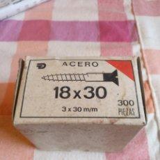 Antigüedades: ANTIGUA CAJA CON TORNILLOS. Lote 257663255